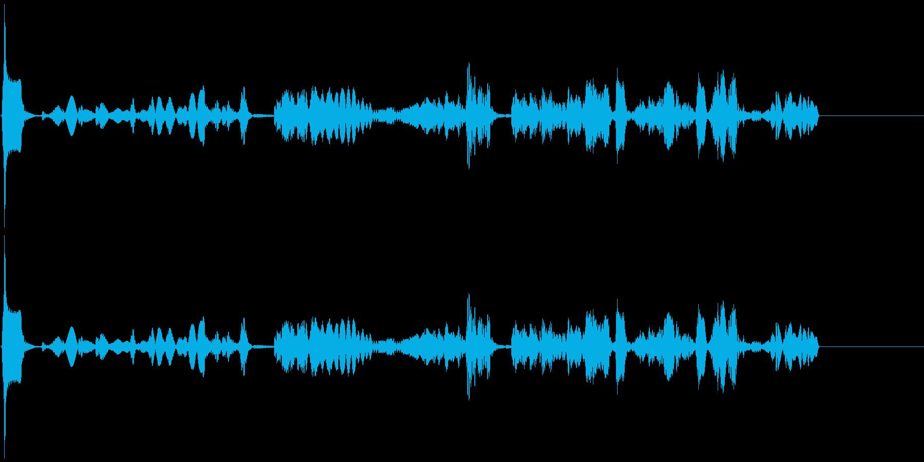 【SE 効果音】機会的なノイズ2の再生済みの波形