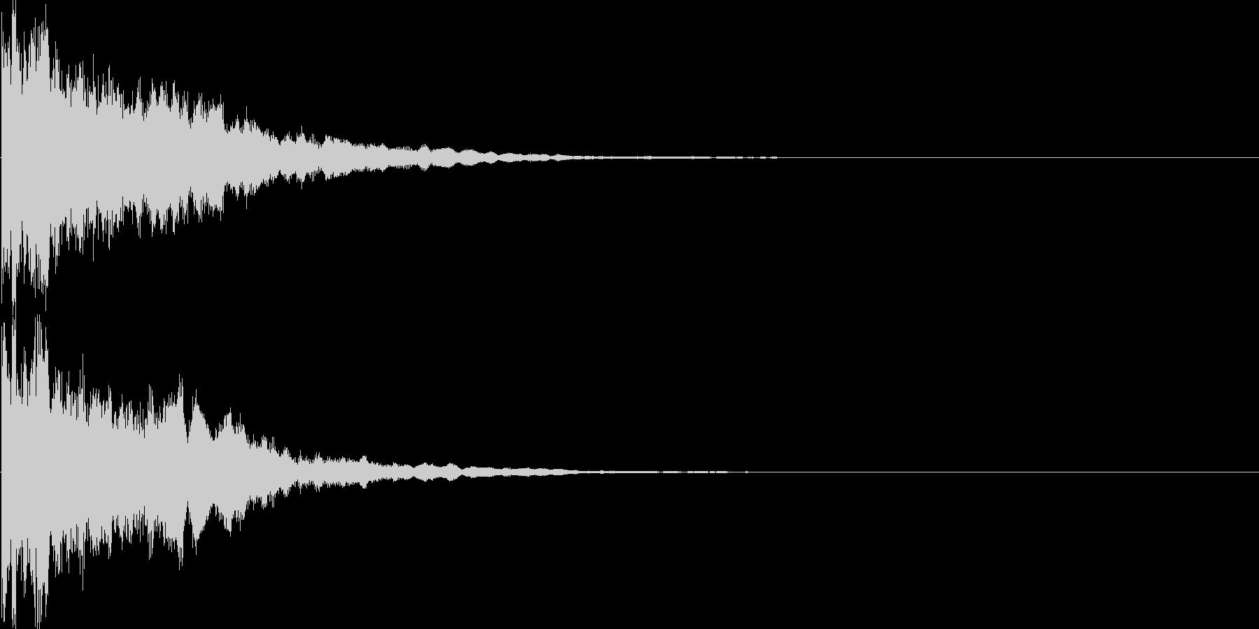 キラーン(決定音、アプリ、ゲームに)の未再生の波形