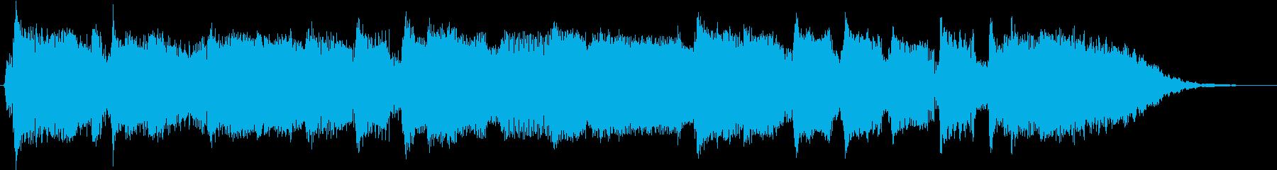 ジングル のどかなハーモニカの再生済みの波形
