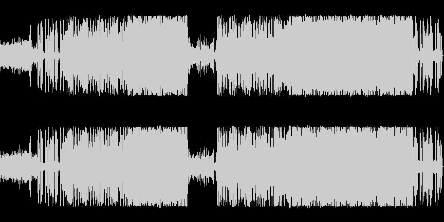 シンセを駆使したハードロックの未再生の波形