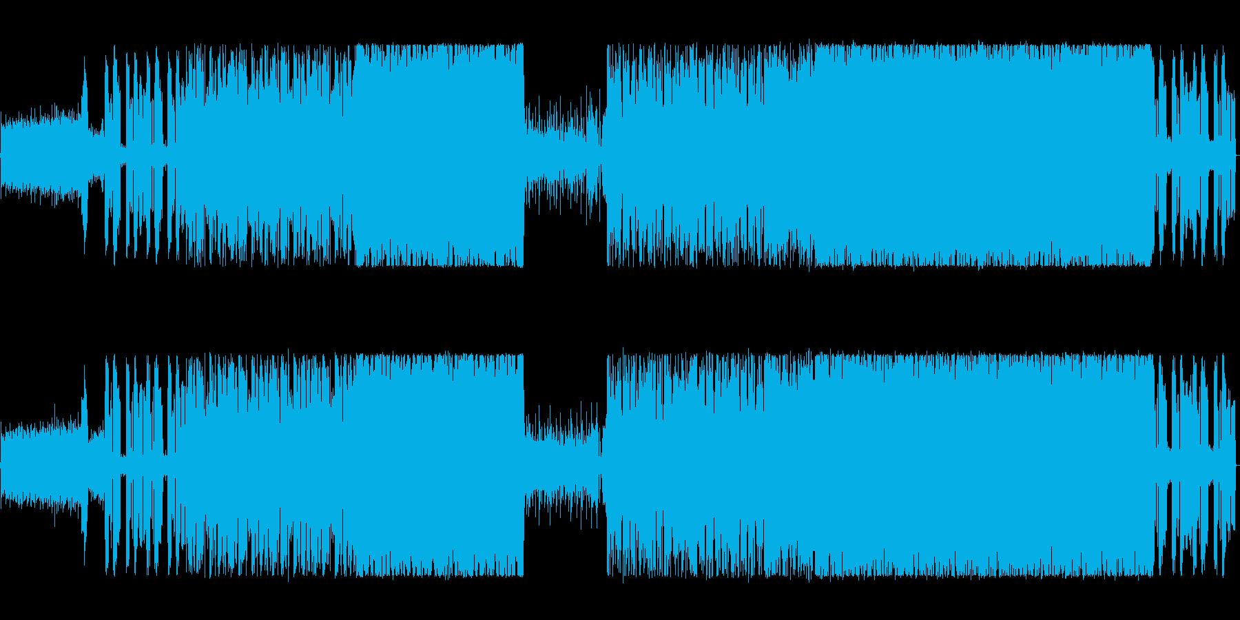 シンセを駆使したハードロックの再生済みの波形