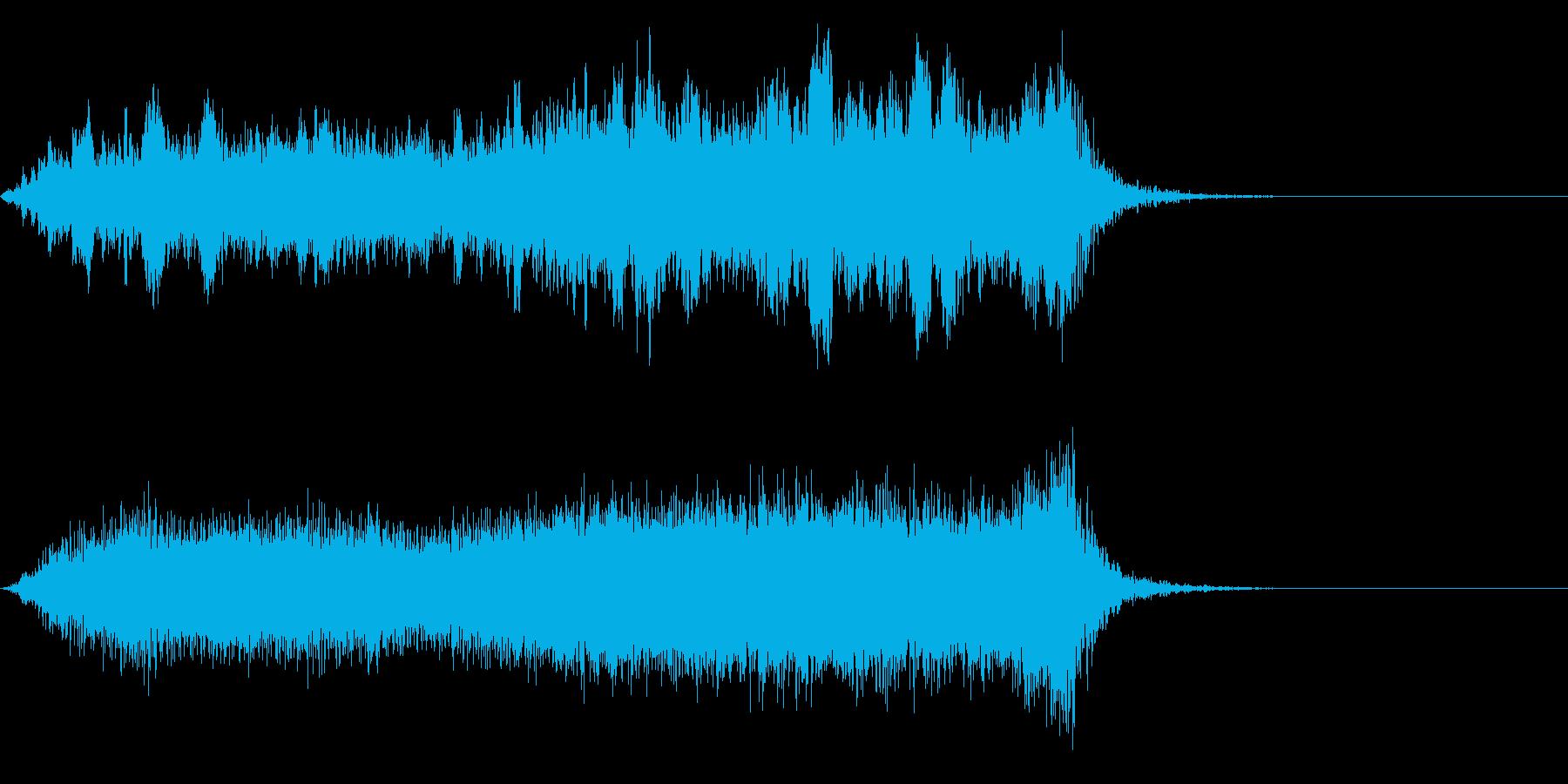 ワープ 宇宙的 未来的な効果音 01の再生済みの波形
