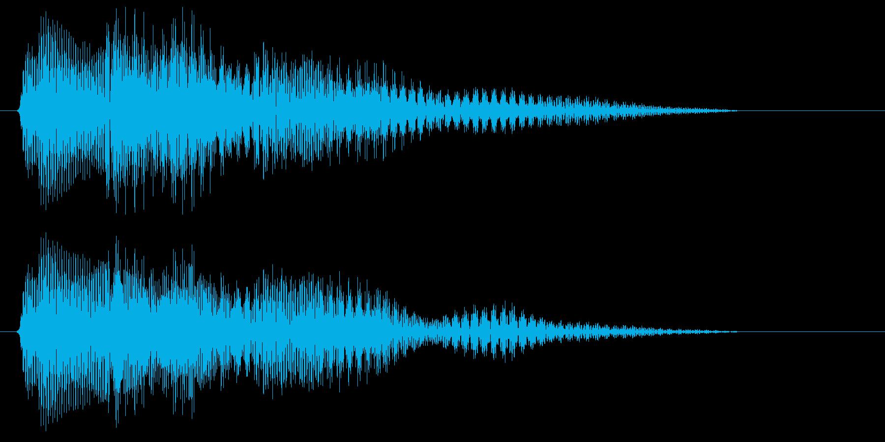 ピコン(明るめなアイテム取得音)の再生済みの波形