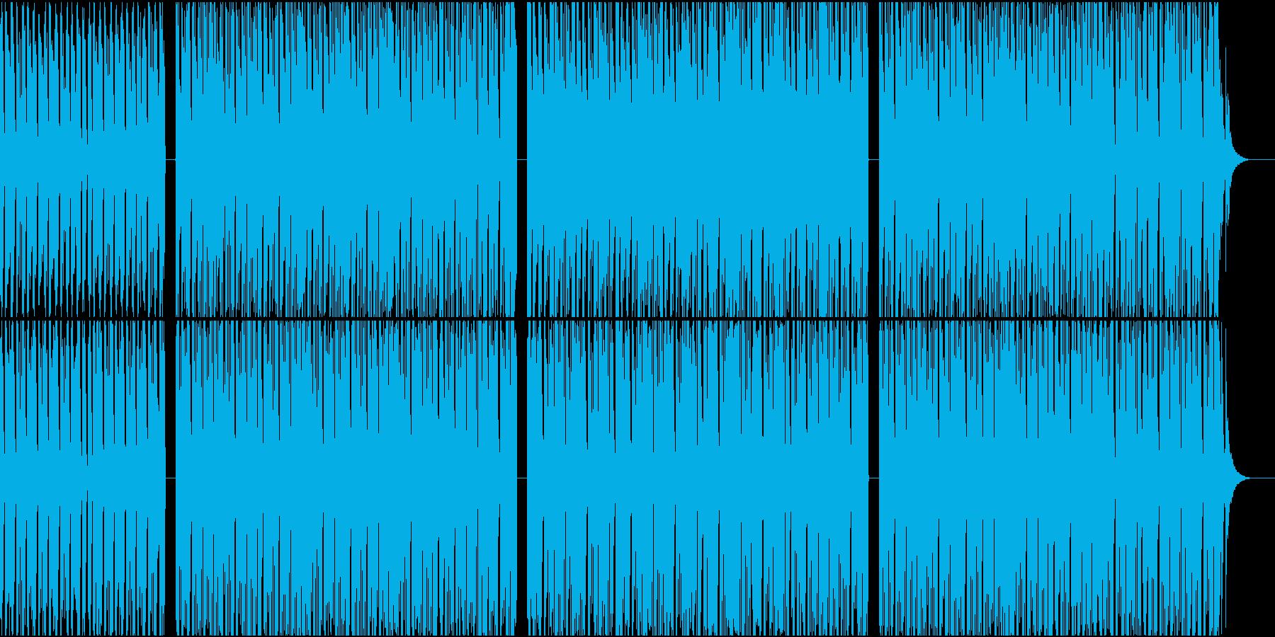 少し肌寒い感じのハウスサウンドの再生済みの波形