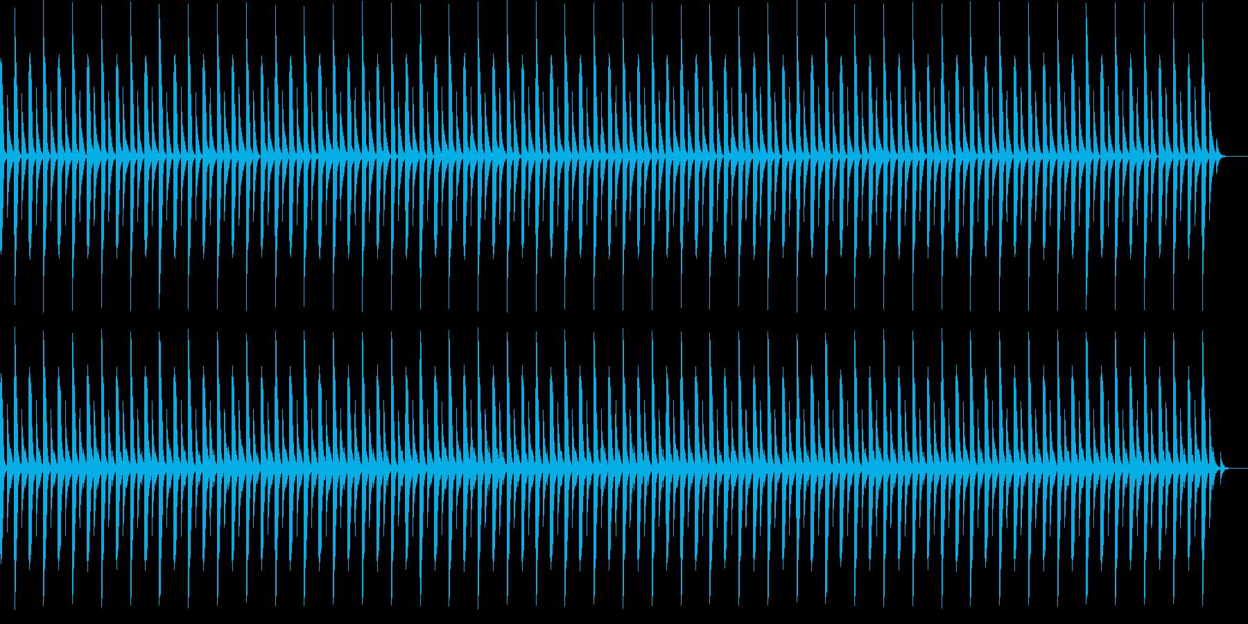 雰囲気の暗いゆっくりしたBGMの再生済みの波形