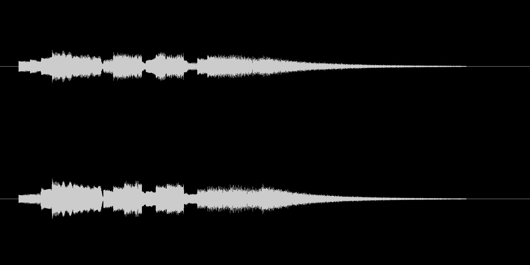 アイキャッチにオススメなエレビのジングルの未再生の波形