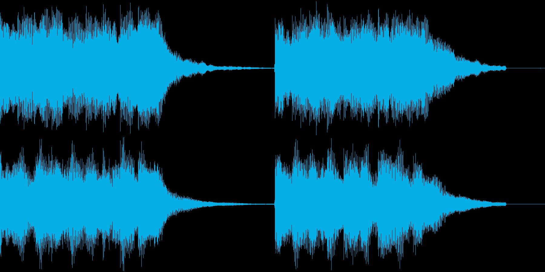 ベル アラーム お知らせ ループ 案内3の再生済みの波形