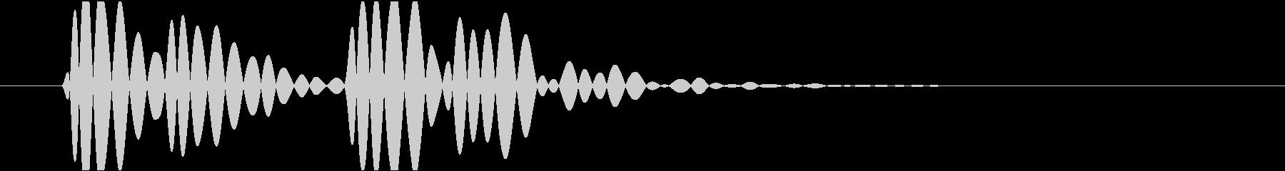 ドクン(心臓、鼓動、心電図)の未再生の波形