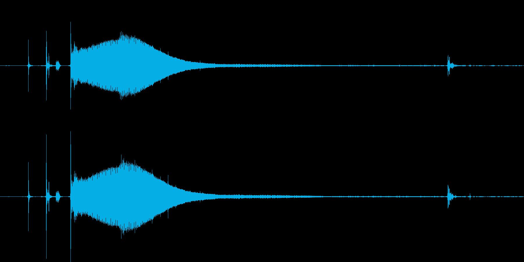 CRTモニターの起動音。の再生済みの波形