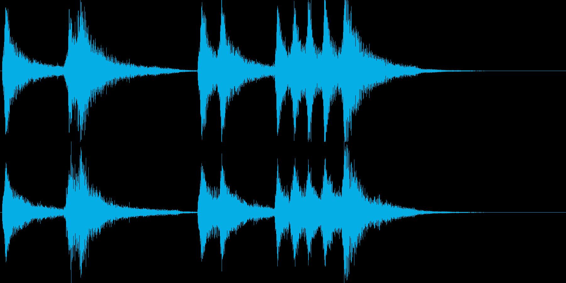 ピアノの不協和音フレーズ(ショックな時)の再生済みの波形