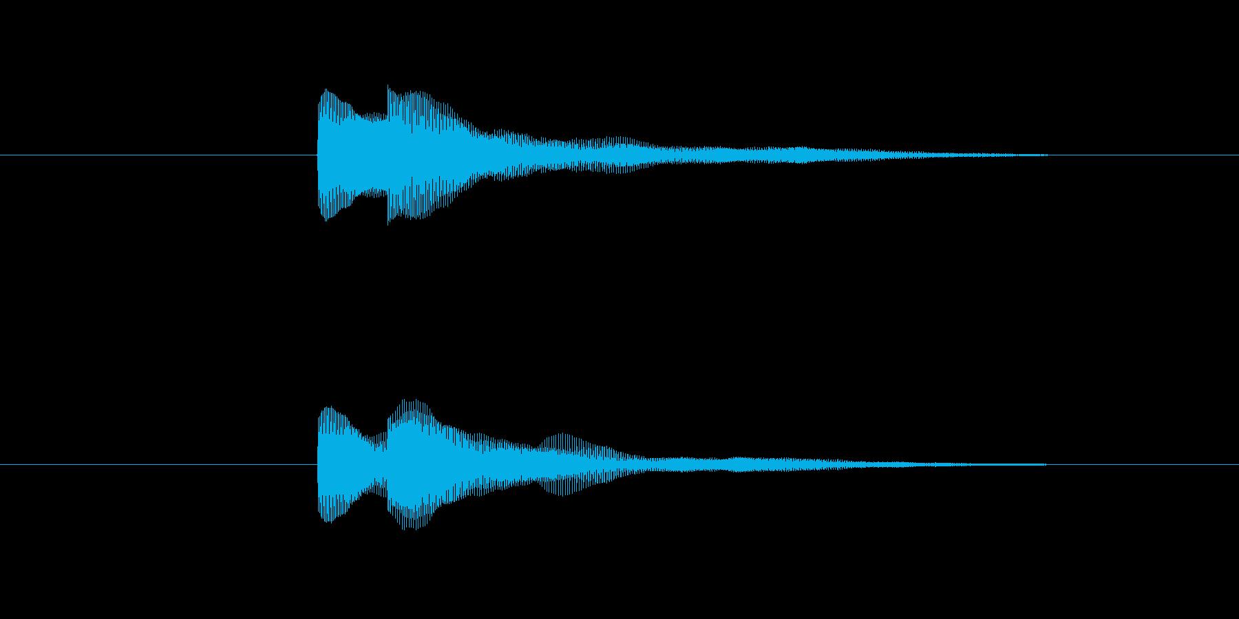 ピコッ(決定する音)の再生済みの波形