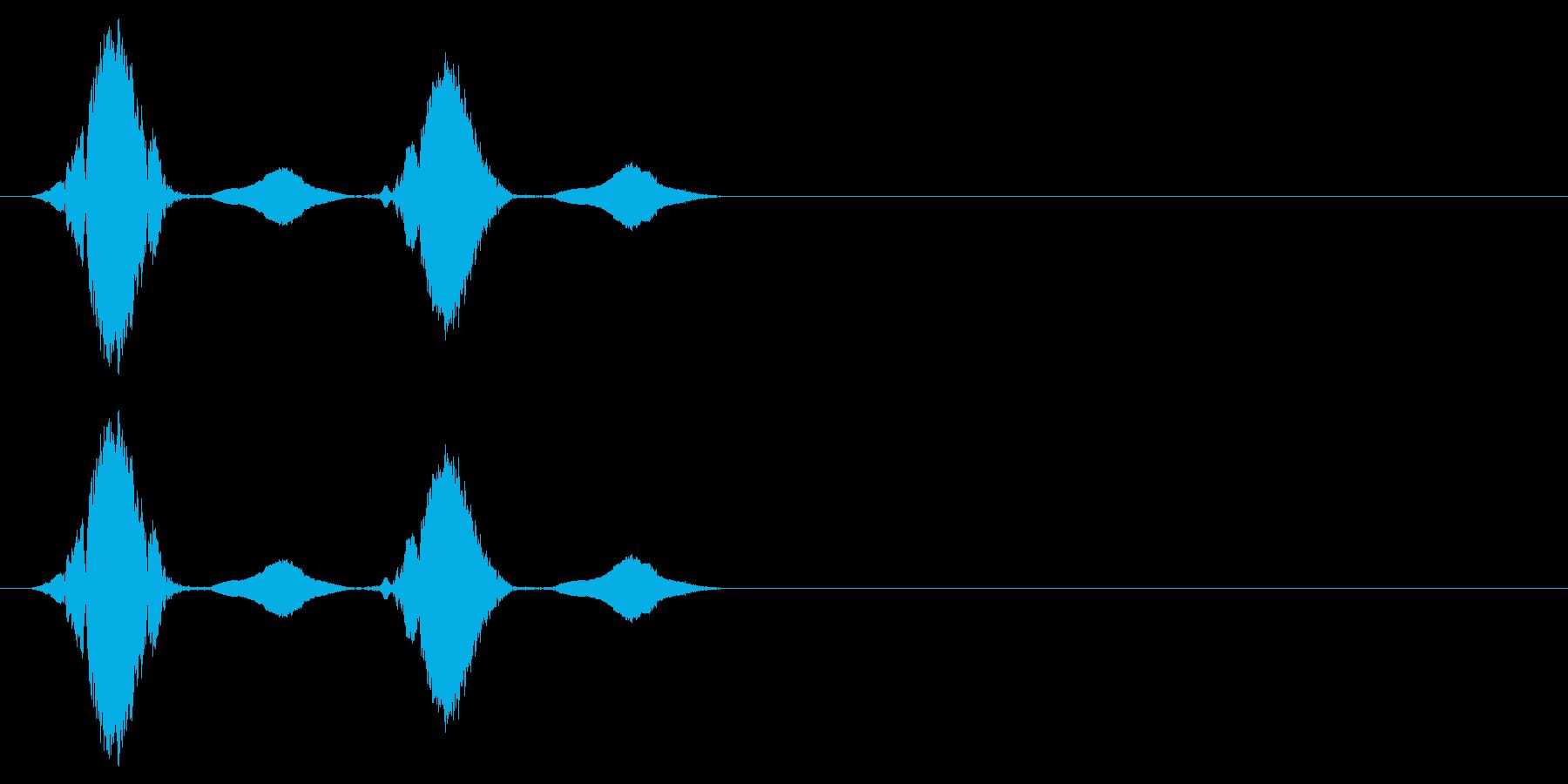 感情:怒る_プンプン_ピヨピヨの再生済みの波形