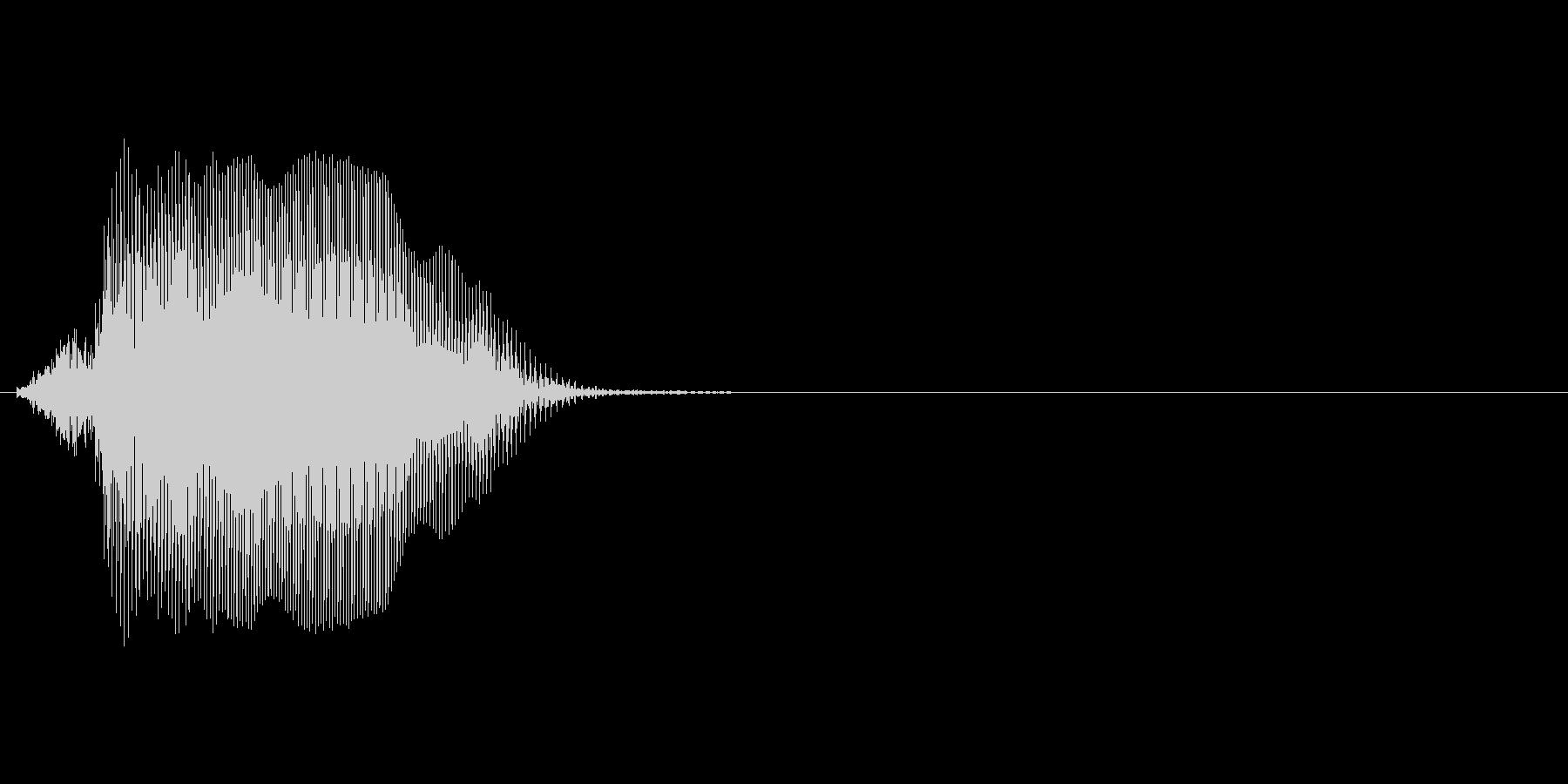 Jの未再生の波形