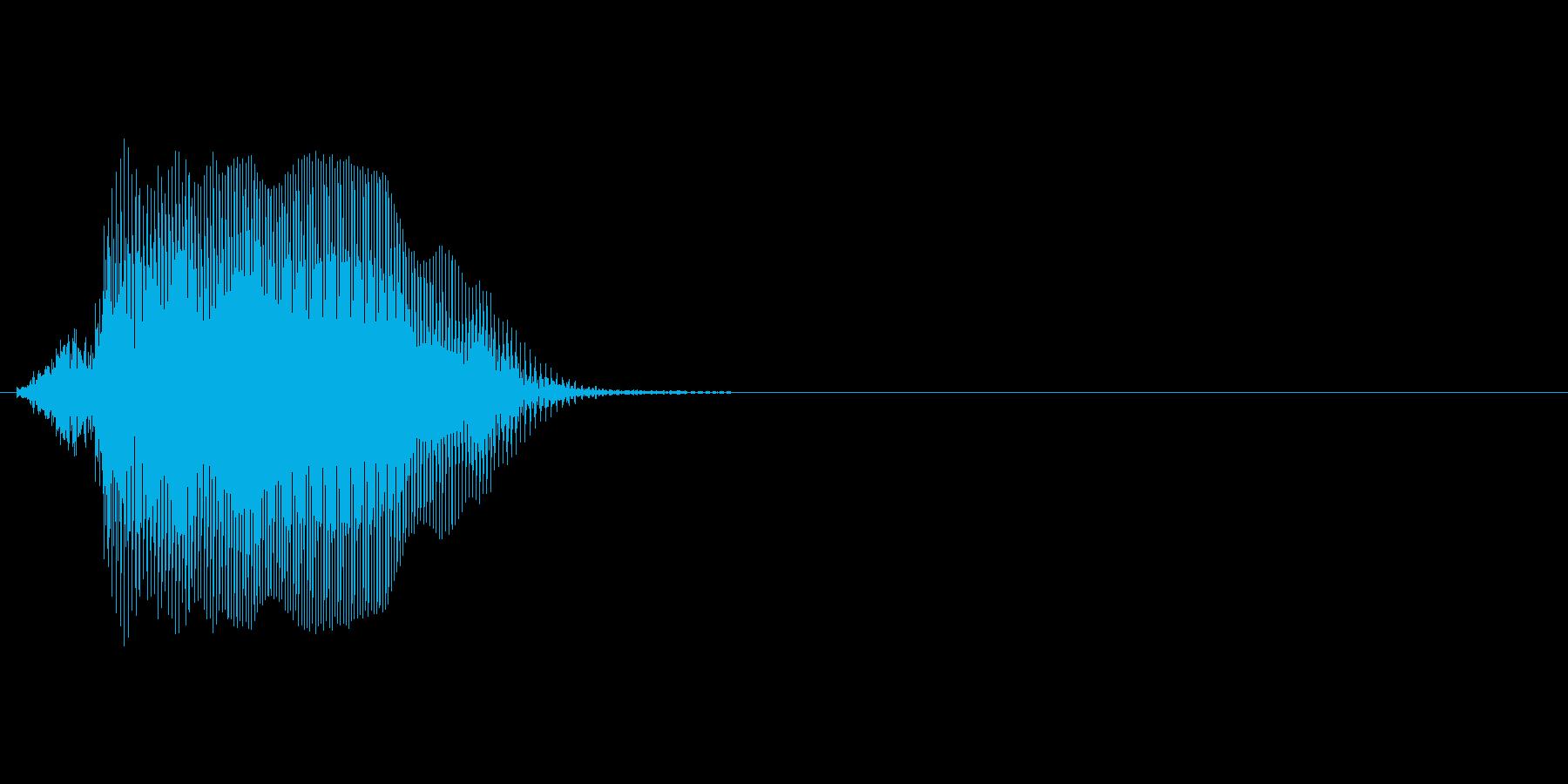 Jの再生済みの波形