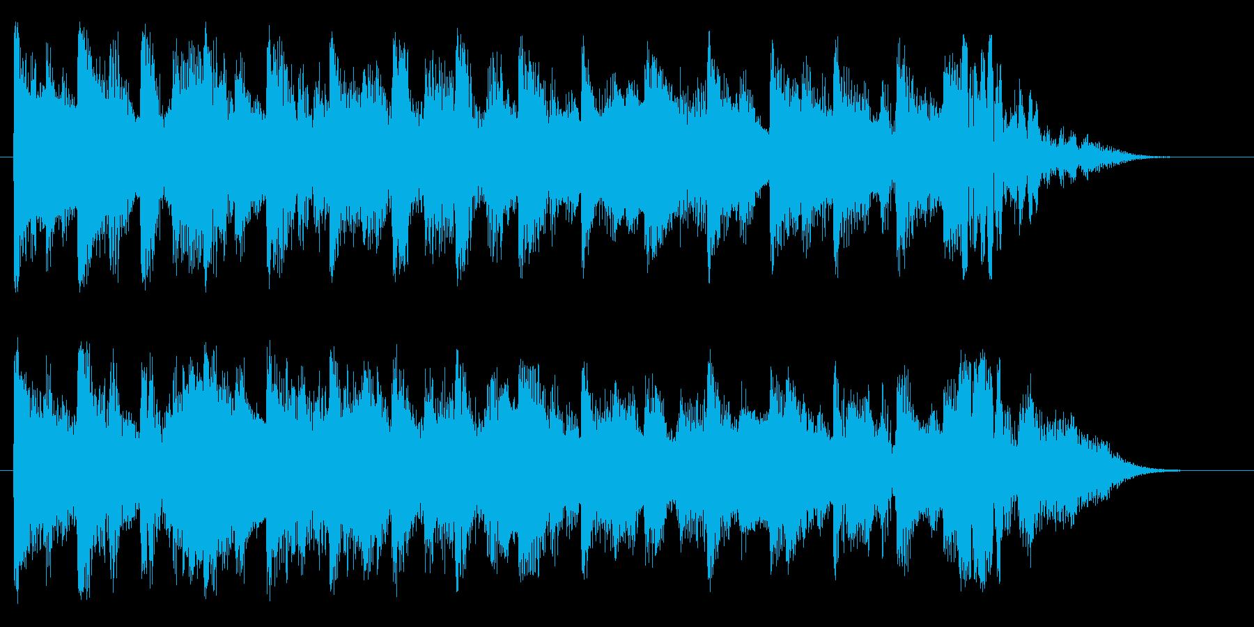 ハイテンションなオープニングサウンドの再生済みの波形