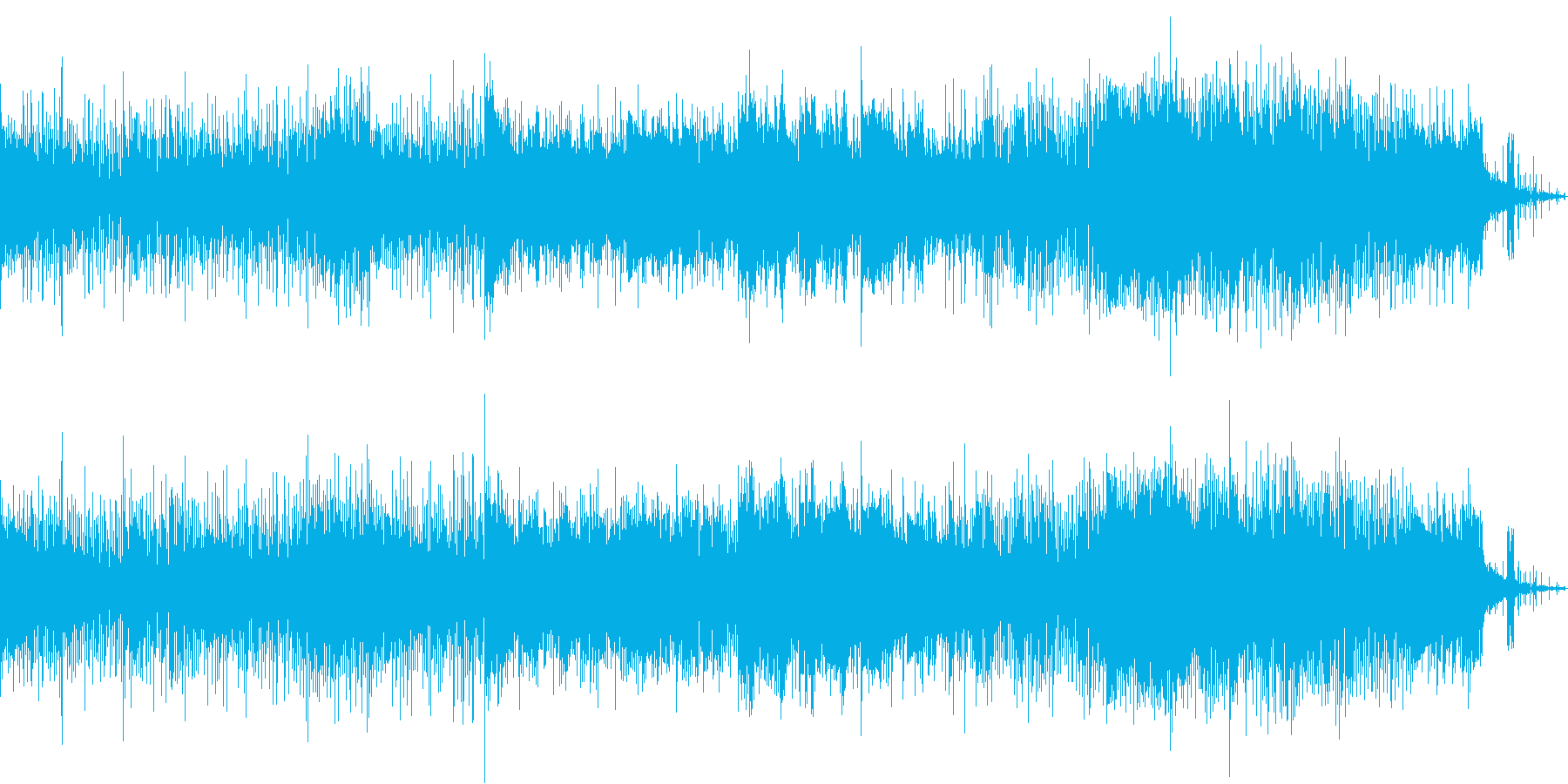 ハード、ノイジーなSFチックハードロックの再生済みの波形