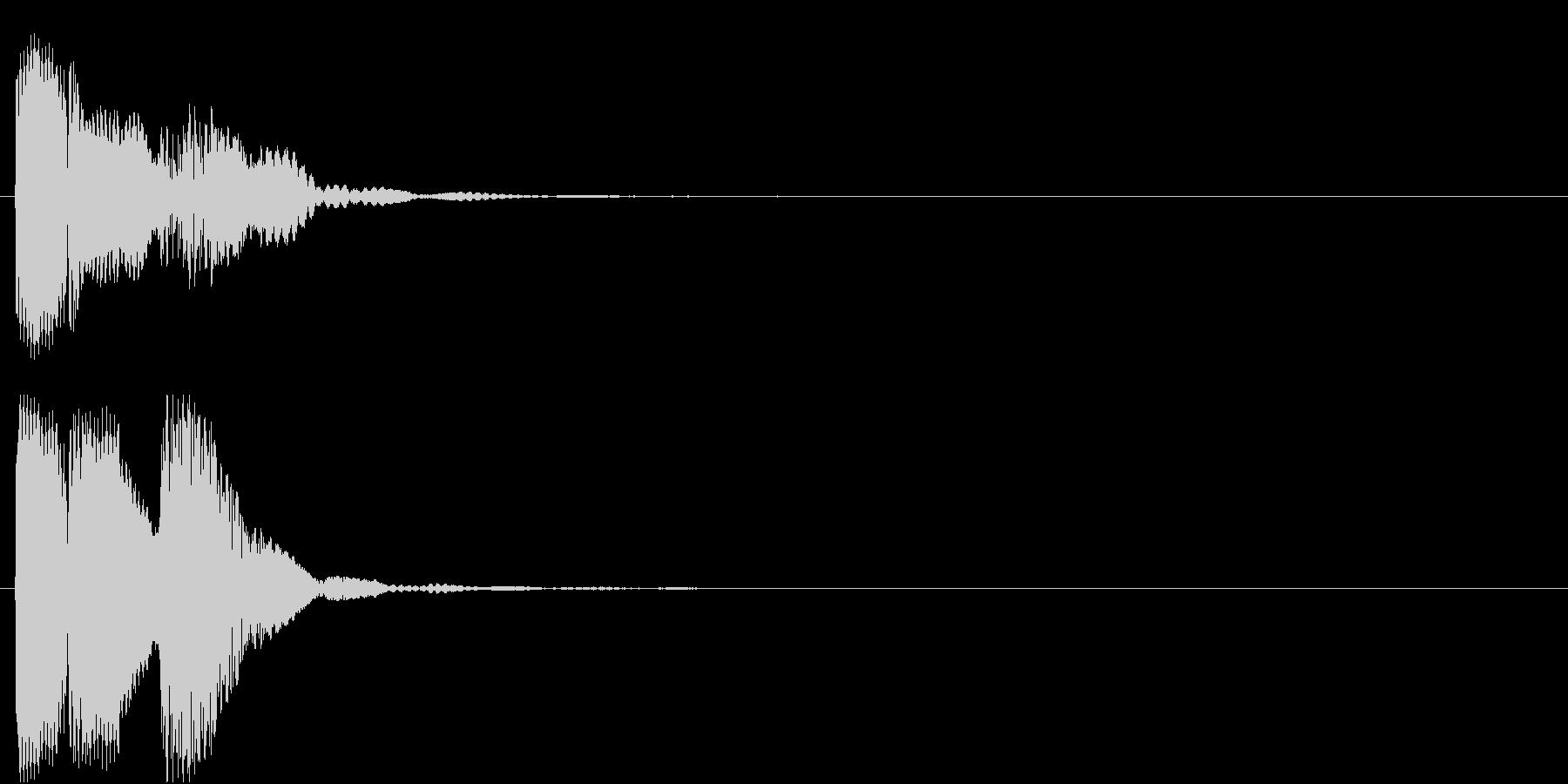 ピロリン(エラー・キャンセル)の未再生の波形