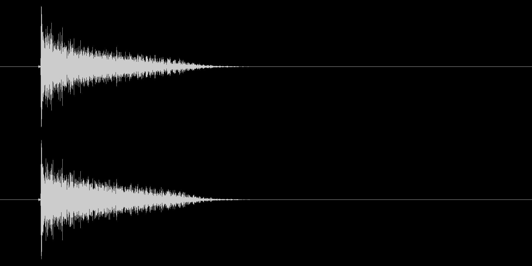 バーン(ピストル、銃、撃つ)の未再生の波形