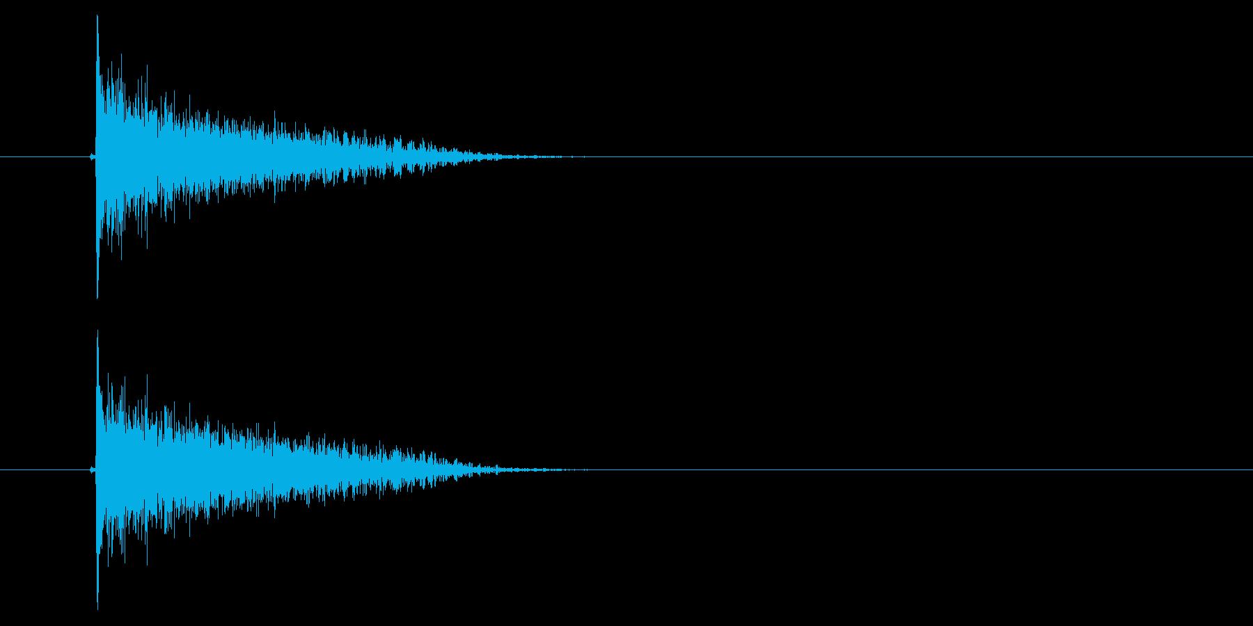 バーン(ピストル、銃、撃つ)の再生済みの波形