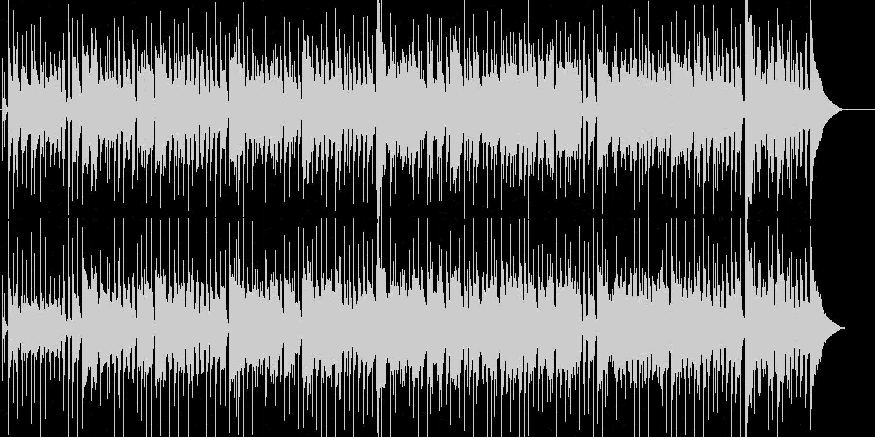のんびりほのぼのとした日常系ポップスの未再生の波形
