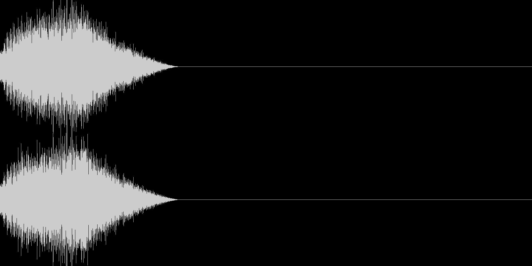 魔法 きめ細かい音の未再生の波形