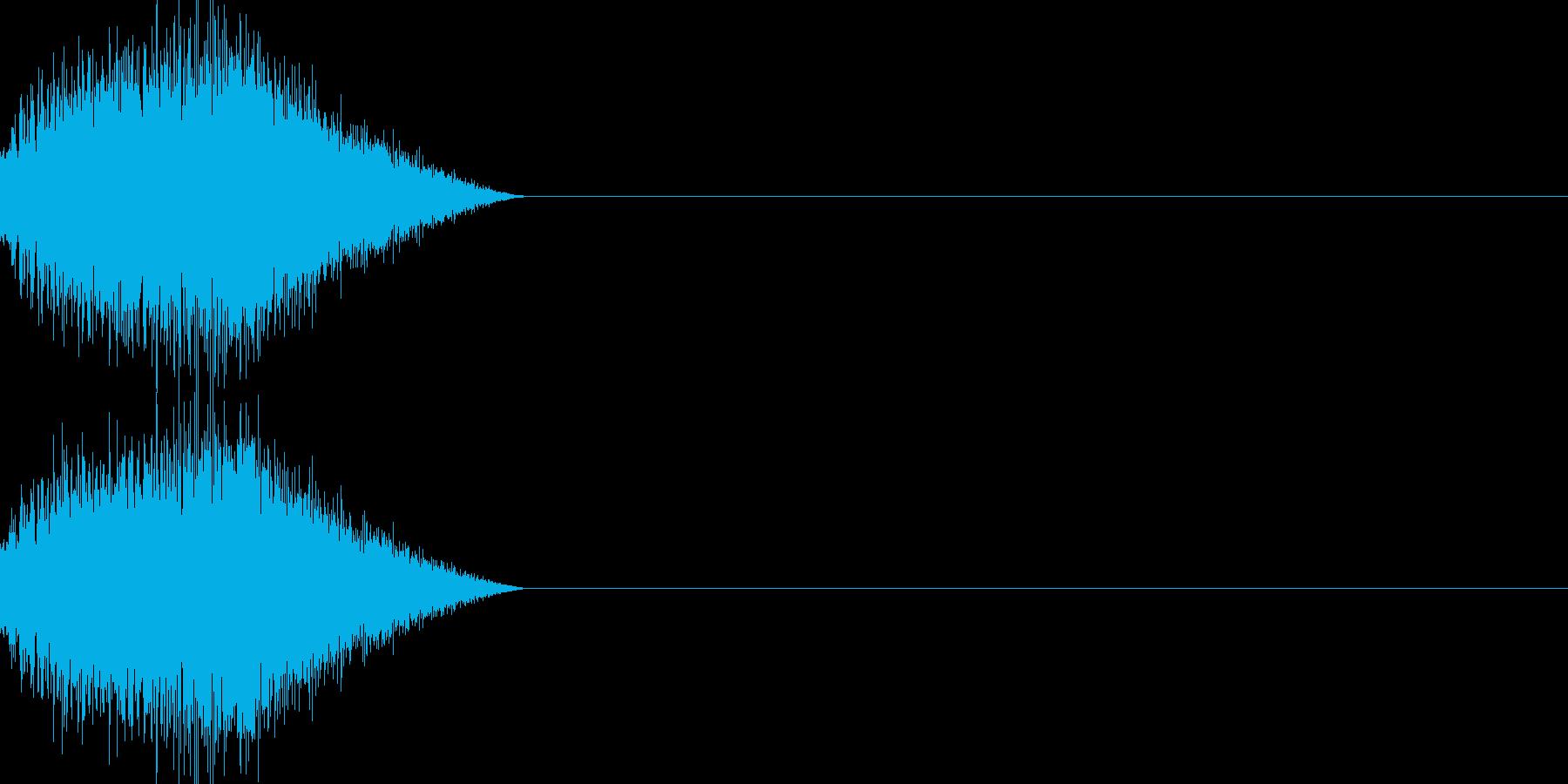 魔法 きめ細かい音の再生済みの波形