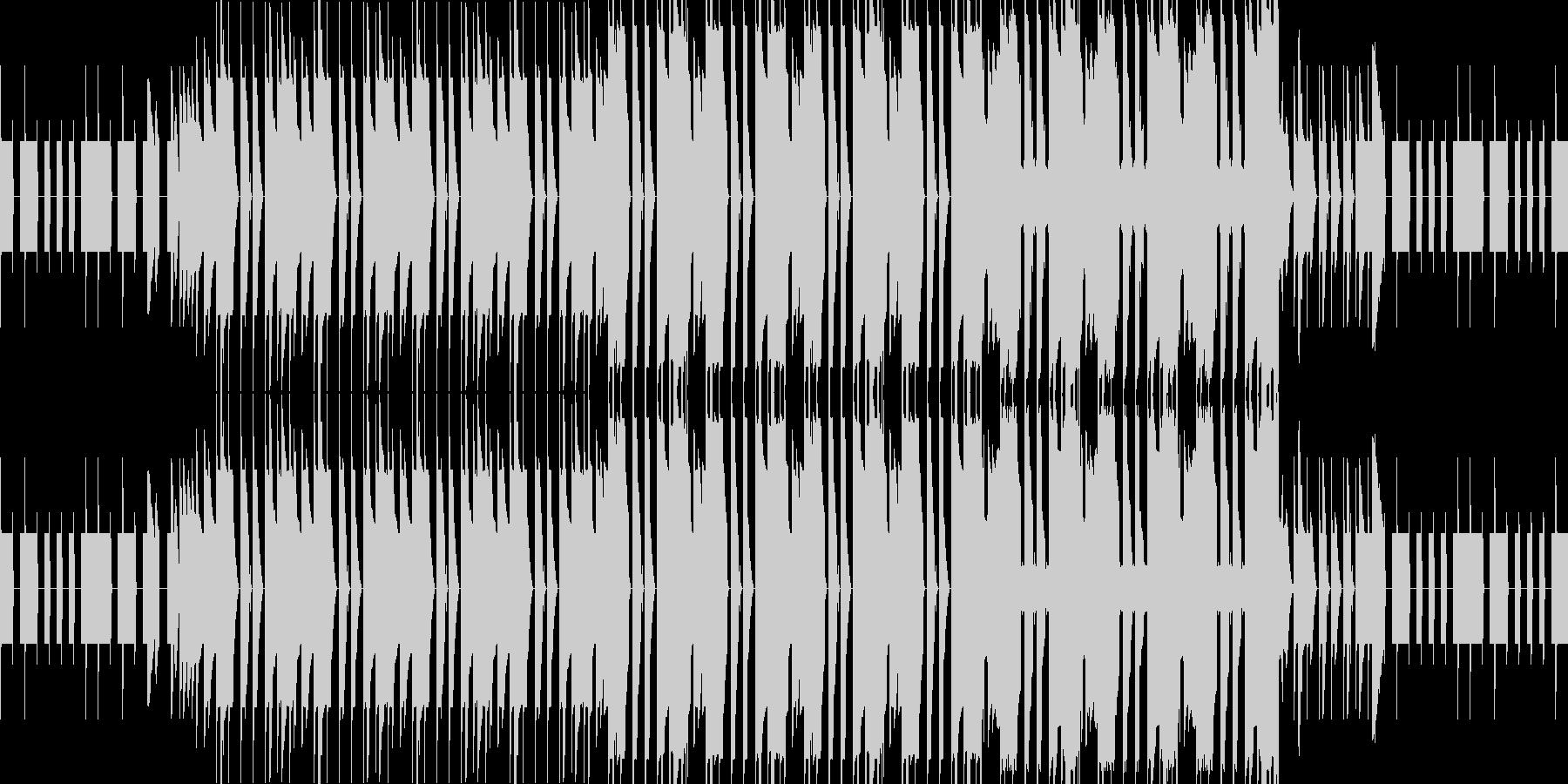 怪しいチップチューンの未再生の波形