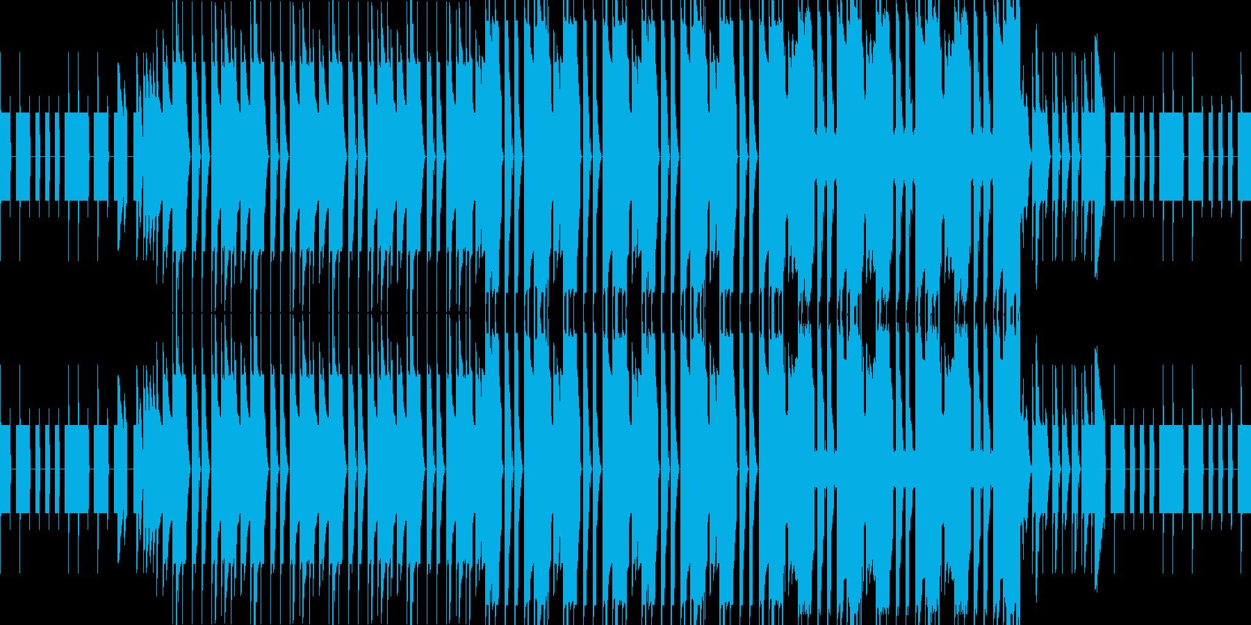 怪しいチップチューンの再生済みの波形