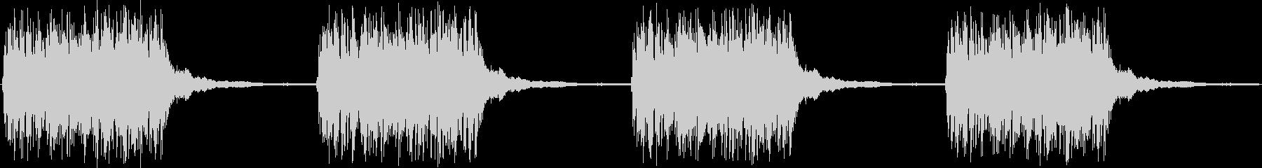 ジリリリリリリリの未再生の波形