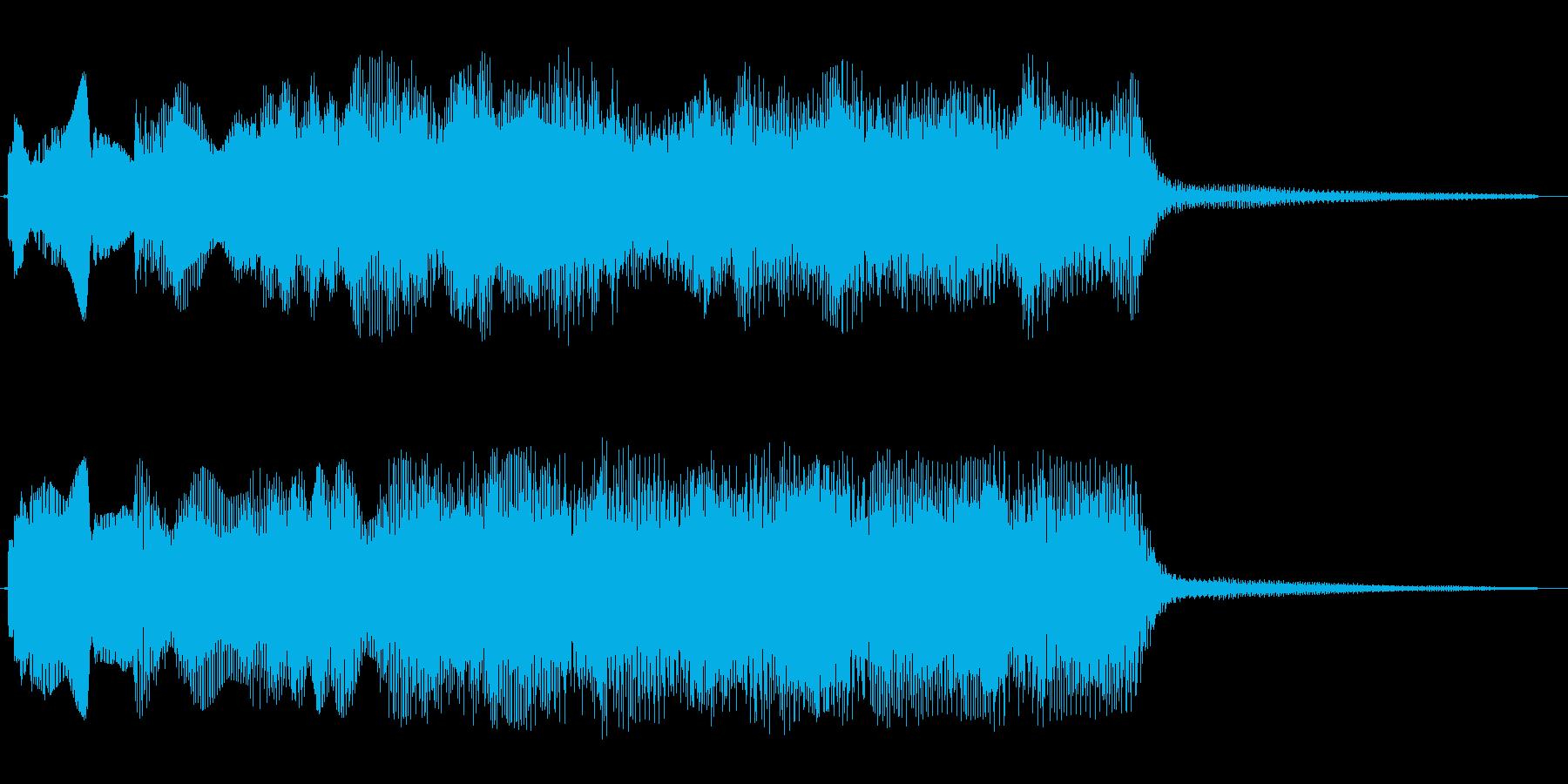 パンパンパンパーン↑(明るいOP音)の再生済みの波形
