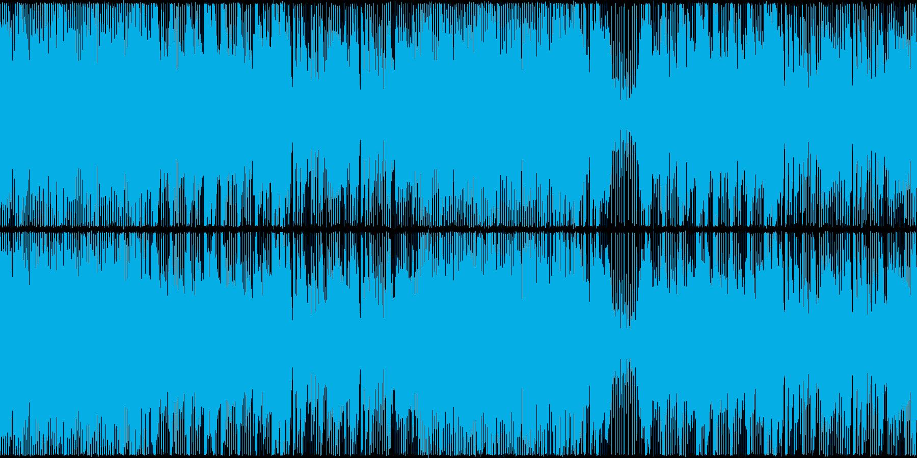 ハロウィン・ホラー風楽曲の再生済みの波形