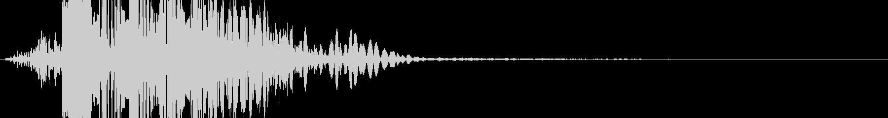 パンチの音(ボカッ)の未再生の波形