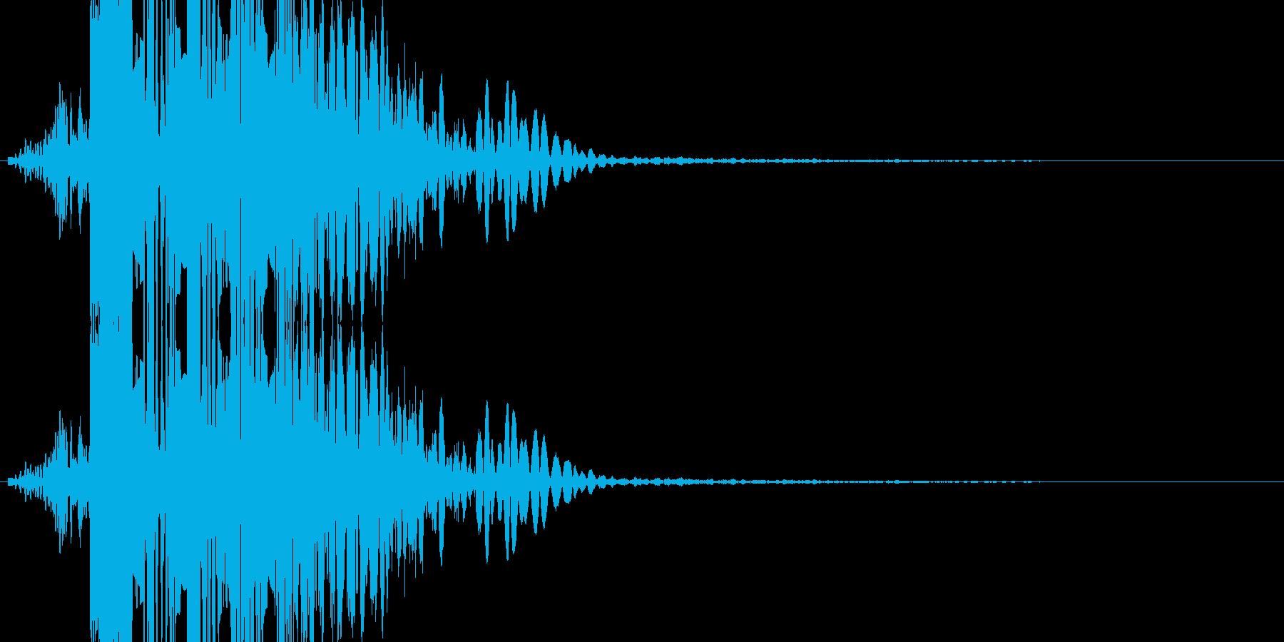 パンチの音(ボカッ)の再生済みの波形