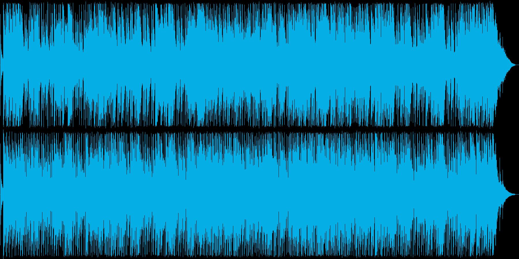 ゆったりとしたギターブルース系サウンドの再生済みの波形