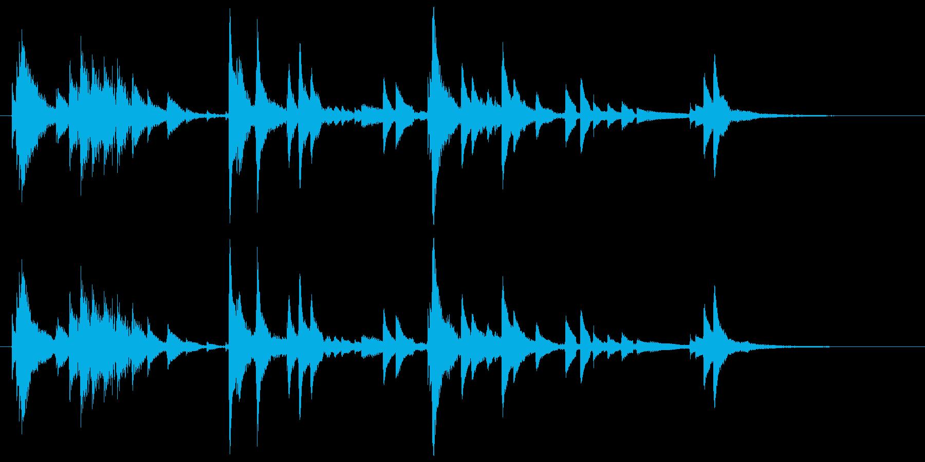 ウクレレハワイアンフレーズ5の再生済みの波形