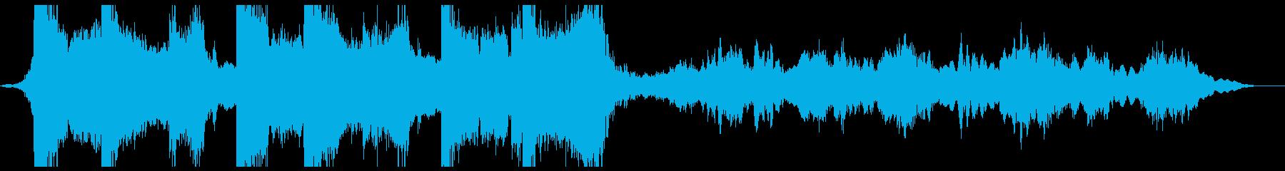 神秘的ブルガリアンボイスのイントロ風な曲の再生済みの波形