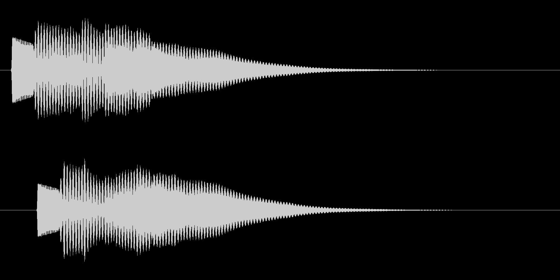 ピローン(金属的な決定音)の未再生の波形
