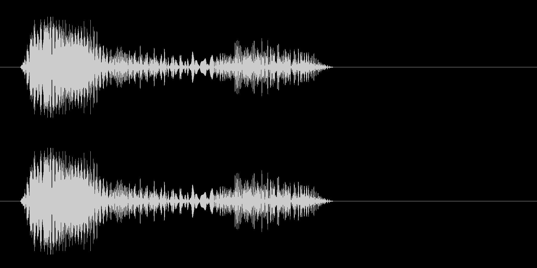 ピドッ(何かが張り付いたような効果音)の未再生の波形