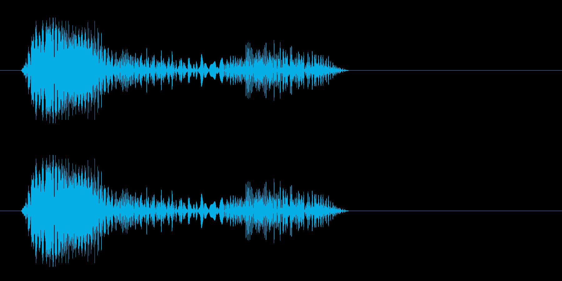ピドッ(何かが張り付いたような効果音)の再生済みの波形