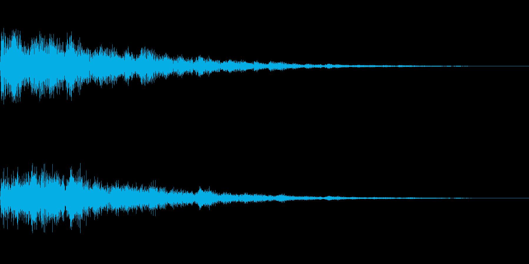 カンという音です。決定、スタート音などにの再生済みの波形