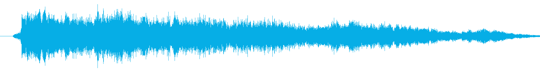 メニュー画面音(ウインドウ開閉など)01の再生済みの波形