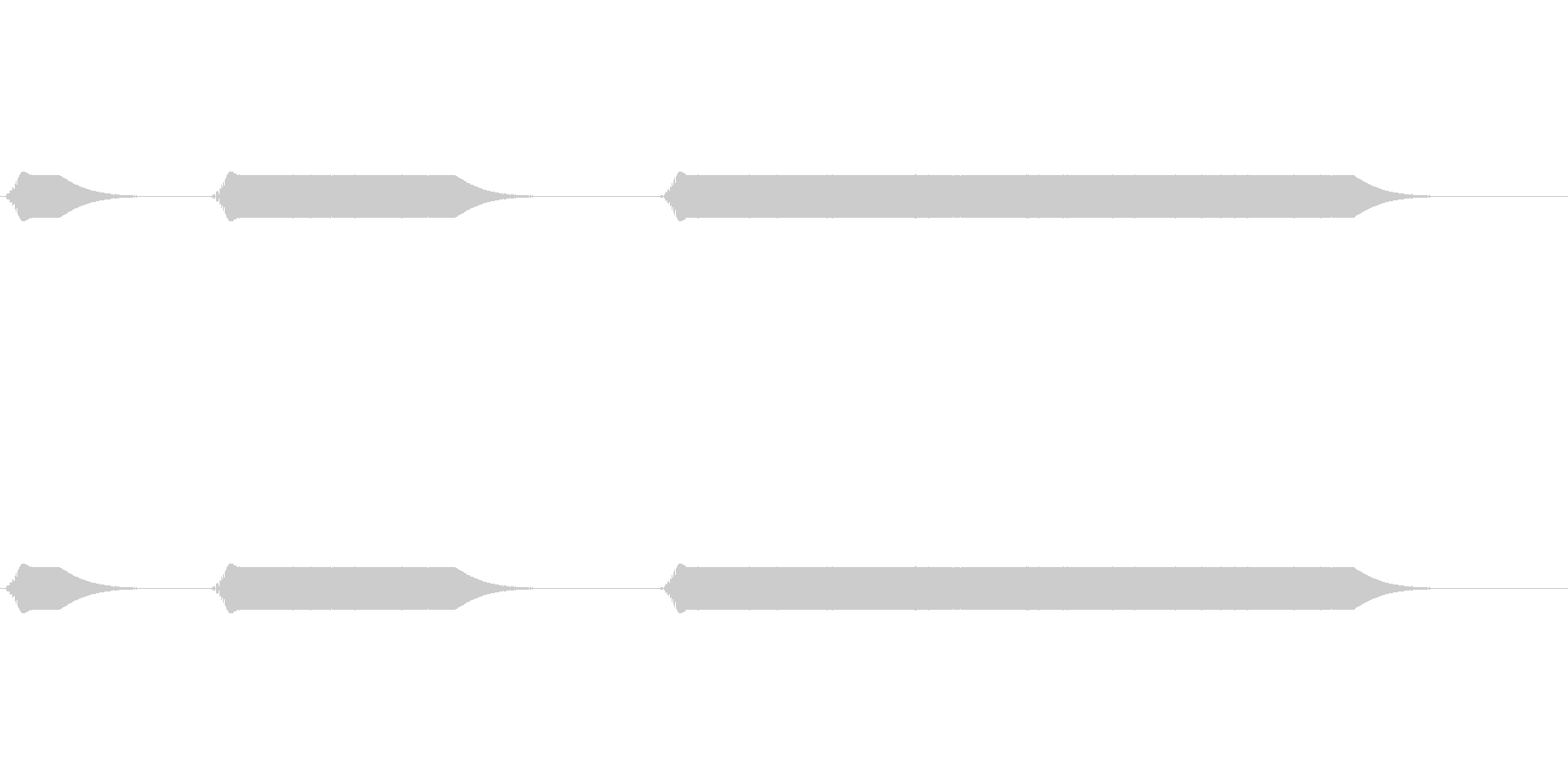 キュイーン:ドリル、リューターの音の未再生の波形