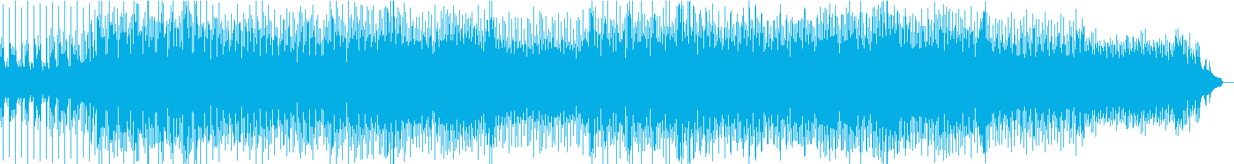 メロディアスなテクノポップの再生済みの波形