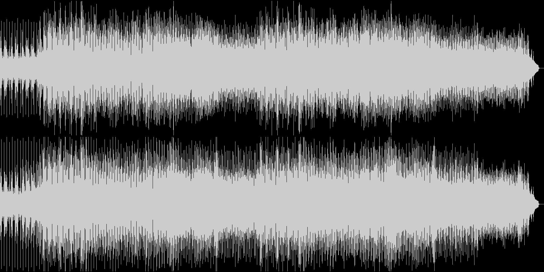 メロディアスなテクノポップの未再生の波形