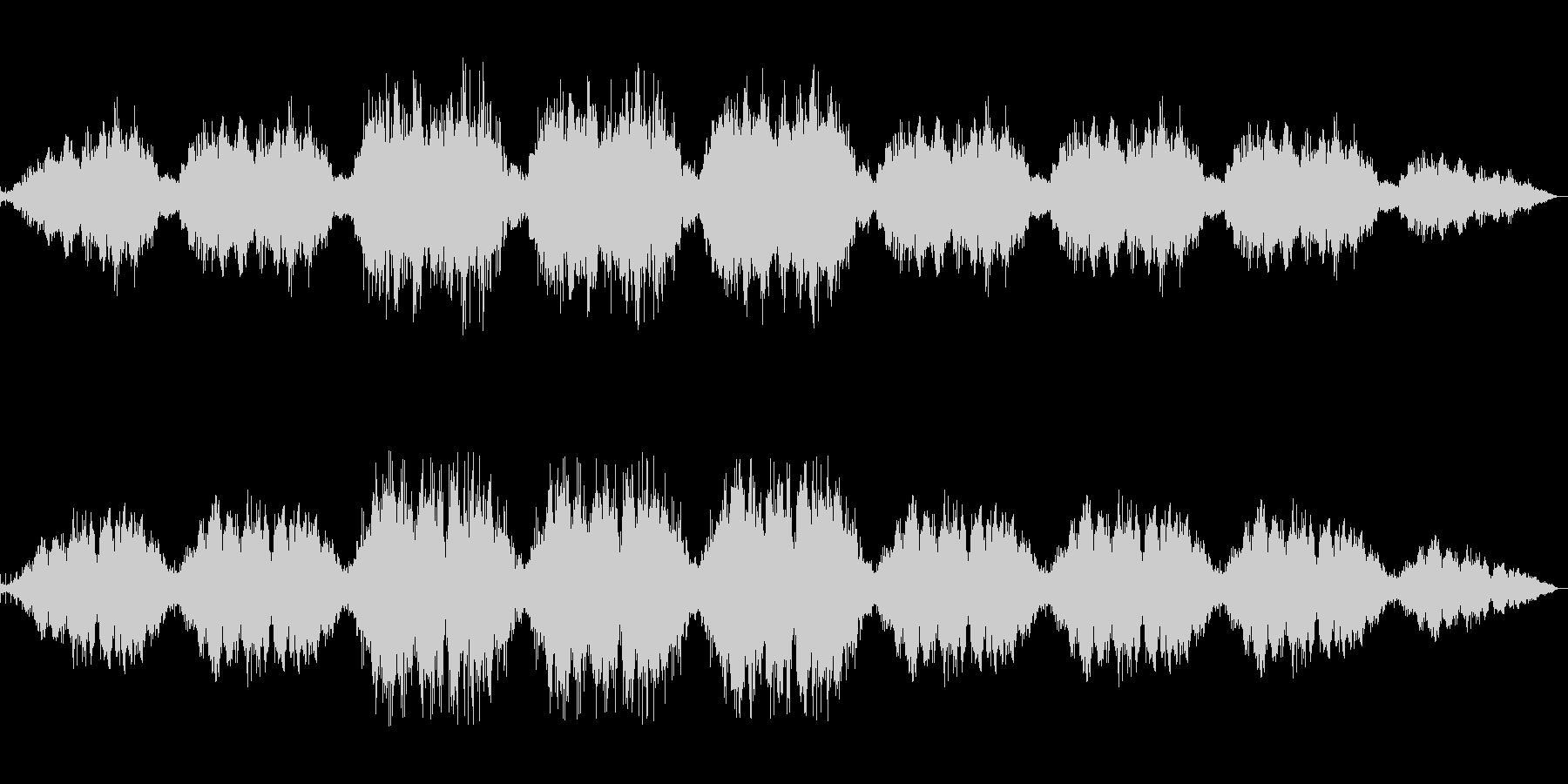 【和声+パーカッション】静かなBGMの未再生の波形