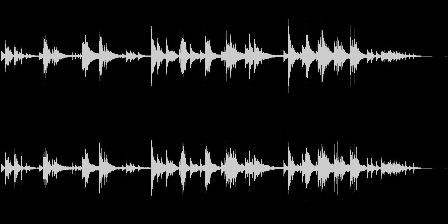 綺麗で優しい切ない映像に ■ ピアノソロの未再生の波形