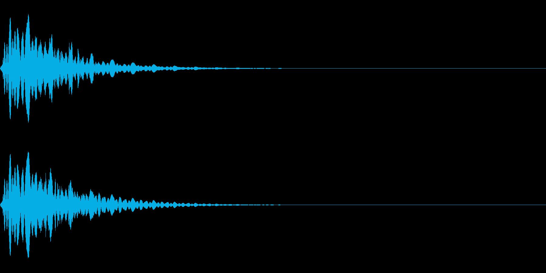 パチンコで鳴りそうなキュイーンの再生済みの波形