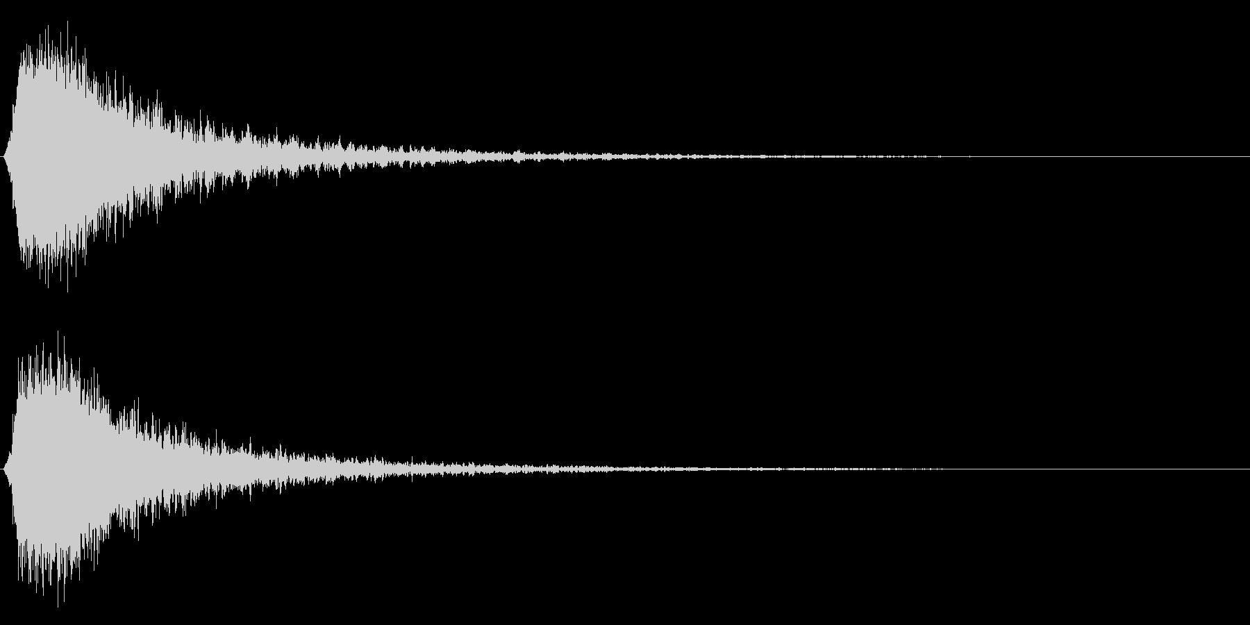 シャキーン!(強烈なインパクト効果音)3の未再生の波形