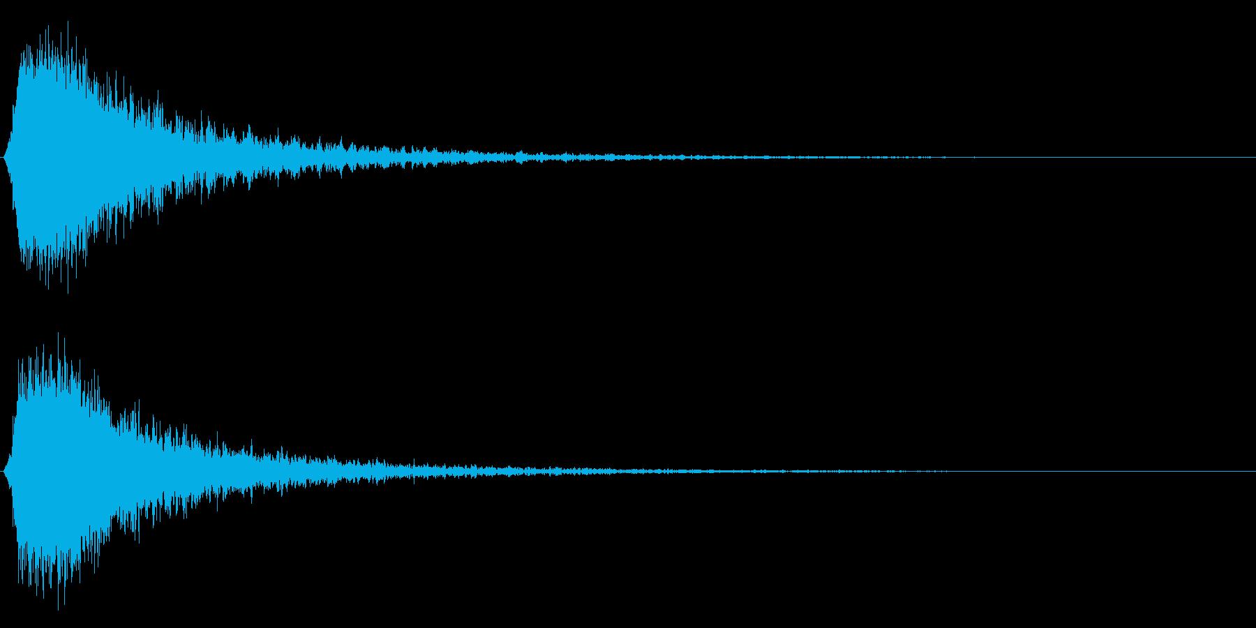 シャキーン!(強烈なインパクト効果音)3の再生済みの波形