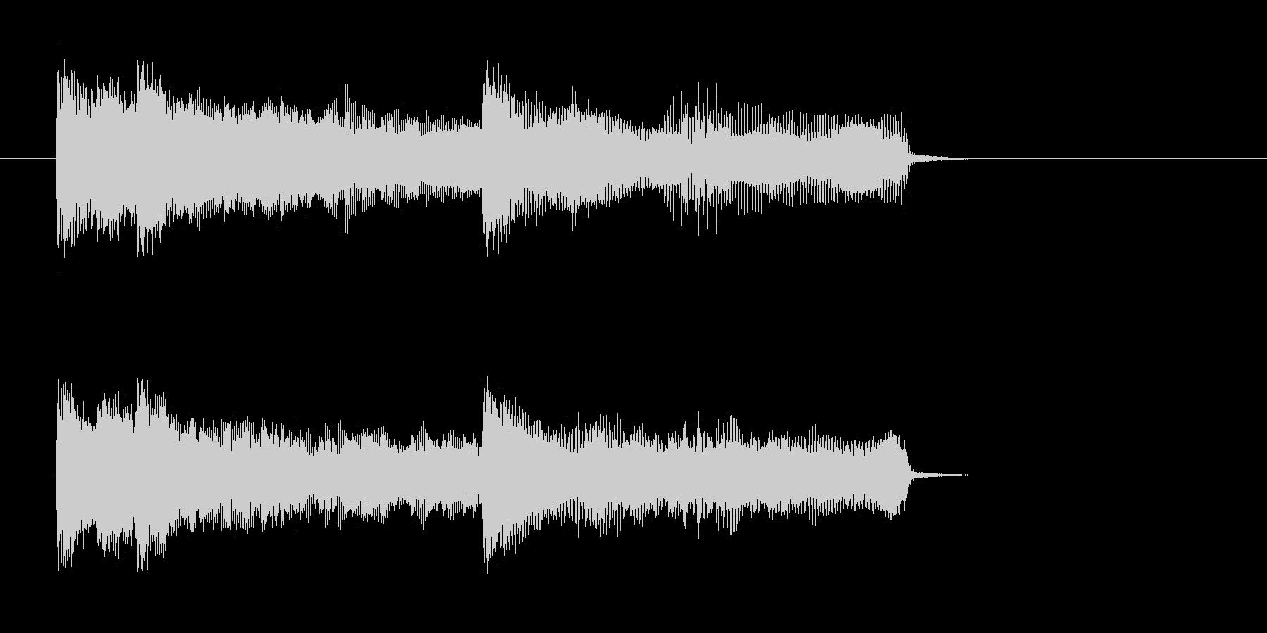 勢いがあるドラムとベースによるロックの未再生の波形